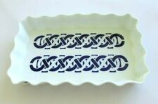 "SARGADELOS SPAIN MID CENTURY BLUE AND WHITE 11 1/2"" x 7"" PORCELAIN SERVING  DISH"