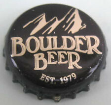 BOULDER BEER Est. 1979 Black Beer CROWN, Bottle Cap with MOUNTAIN, COLORADO
