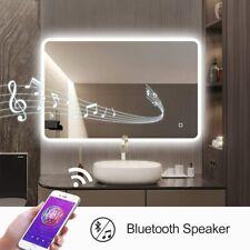 24x32 Led Illuminated Bath Vanity Mirror with Touch Sensor Bluetooth & Anti-fog
