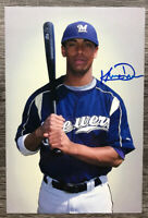 KRIS DAVIS MILWAUKEE BREWERS SIGNED AUTOGRAPHED 4x6 PHOTO
