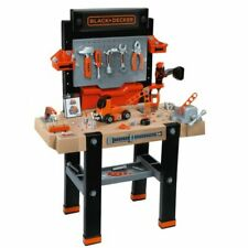 Smoby Kids Black & Decker Bricolo The Ultimate Childrens Toy Workbench 95 Pcs
