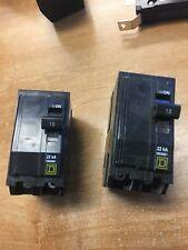 Square D 15 amp 2 pole breaker type Qob, 22 kA