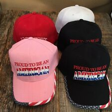 WHOLESALE LOT 5 X Assorted PROUD TO BE AN AMERICAN Baseball Caps HAT HT-680