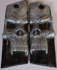 Llama 45 ACP Max1 -C/F pistol grips pearl skull on black plastic
