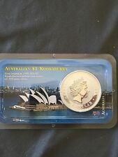 Silver 2001 Kookaburra Littleton Packaging 1 Troy Ounce .999 Pure Silver