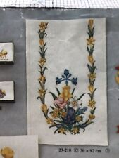 Two Vintage Eva Rosenstand Cross Stitch Kits- Spring Table Runners
