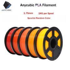 US Sales! 5pcs/lot 1.75mm PLA Filament 1kg for FDM 3D Printer Random Colors