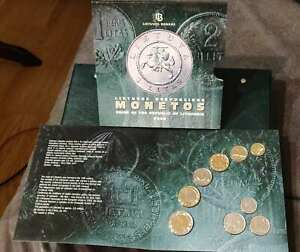 Lithuania 2008 official coin set KMS BU