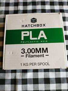 HATCHBOX PLA 3D Printer Filament,1 kg Spool, 3.00MM BLUE