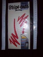 STRIPE ENDS fun FLASH Stylistick Vintage Decal Car Van Sticker customise NoS