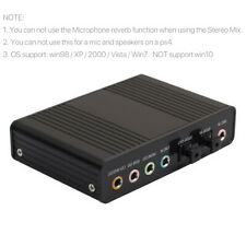 More details for external sound card audio output adapter 6 channel 5.1 spdif usb optical for pc