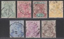 St Helena 1890-97 Queen Victoria Set Used SG46-52 cat £140