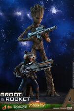 Hot Toys Avengers Infinity War Groot & Rocket 1/6 Scale Figure Set In Stock