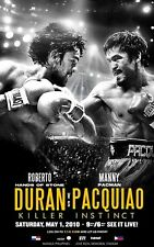 ROBERTO DURAN vs MANNY PACQUIAO 8X10 PHOTO BOXING POSTER PICTURE