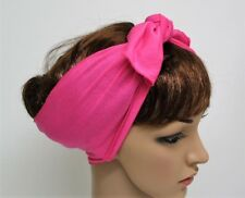 Tie Up Headband , Self Tie Hair Scarf, Rockabilly Hair Wrap, Stretchy Hair Tie