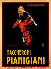 Maccheroni Pianigiani - Achille Luciano Mauzan Art Print Pasta Fork Poster 54x37