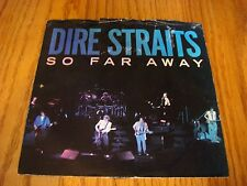 Vintage 45 RPM Dire Straits So Far Away & If I Had You on Warner Brother 1985 PS