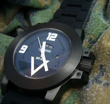 M1 ABRAMS TANK WATCH in Panzer Grey dial. Swiss GMT quartz and Sapphire Crystal