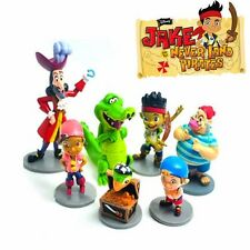 DISNEY JAKE & THE NEVERLAND PIRATE ACTION FIGURES DOLL KID CAKE TOPPER DECOR TOY