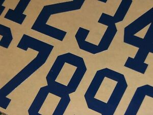 INDIANAPOLIS COLTS Dark Royal Football Helmet Numbers Decals FULL Sz 3M 20MIL