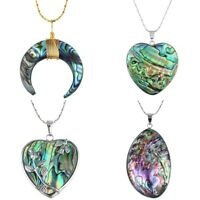 Assorted Shaped Rainbow Abalone Paua Shell Gemstone Charms Pendant Fit Necklace