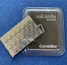 More details for 1 gram (1g) 999.5 valcambi palladium swiss ingot bullion bar. not gold, silver.