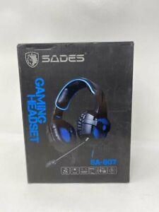 SADES SA-807 Gaming Headset Black & Green Pc X Box Laptop MIc muted Function. D1