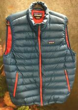 Patagonia men puffer vest size large blue
