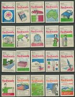 Brymay 1974 THINK METRIC Set Of 64 Matchbox Labels