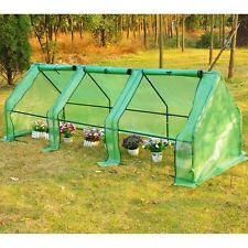 Steeple Polytunnel Greenhouse Grow Tent Steel Frame 2.7x0.9x0.9m
