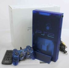 "PS2 OCEAN BLUE Console System SCPH-37000 J1717478 Tested Playstation 2 ""NTSC-J"""