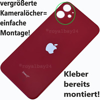iPhone 11 Echt Glas Akkudeckel Rückseite Rot backcover großes Loch big hole Red