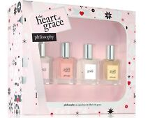 Philosophy HEART OF GRACE  4 pc set EDT *Amazing, Pure, Ballet Rose, Nude Rose*