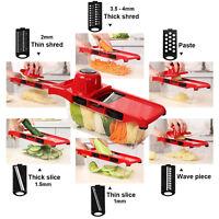 Manual vegetable slicer potato apple shredder stainless steel kitchen