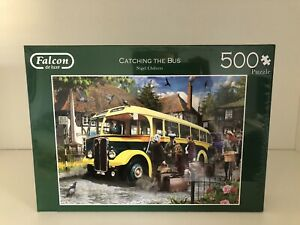 Falcon Deluxe Catching the Bus Jigsaw Puzzle (500 Pieces)