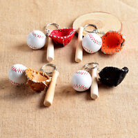 Baseball Bat and Ball Keyfob Car or Bag Keyring Keychain Key Chain Ring Gift