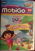 vtech touch learning system mobigo dora the explorer twins day