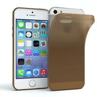 Schutz Hülle für Apple iPhone SE/ 5 / 5S Cover Handy Case Matt Braun
