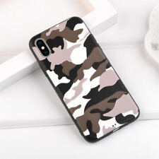 Leopard Camo Patterned Soft TPU Rubber Case Cover Skin For iPhone X 8 7 6S Plus