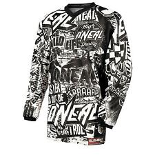 ONeal Element MX Jersey WILD Schwarz Weiß Motocross Downhill Offroad Enduro MTB