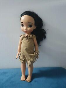 "Disney Store Pocahontas Animator Toddler Doll 16"" Princess Doll Toy"