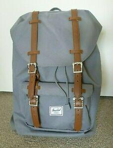 HERSCHEL Little America Backpack Mid-Volume Grey Brown 17L Rucksack