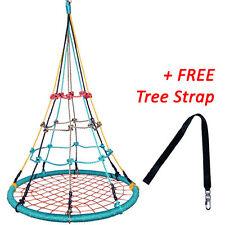 100cm Multi Colour Round Birds Nest Web Swing  + FREE Tree Strap