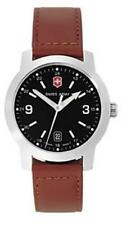 Vintage Swiss Army 24562 Mens Watch Centinel Leather Strap  black face