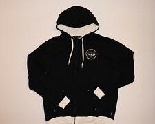 Men's XL FLY Racing full zip front black sweatshirt hoodie jacket w/ chest logo