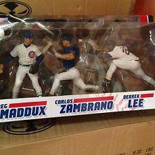 MCFARLANE MLB CHICAGO CUBS 3-PACK GREG MADDUX CARLOS ZAMBRANO DERREK LEE