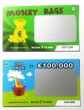 6 Fake lottery EURO (€) scratch cards scratchcards funny great for xmas!