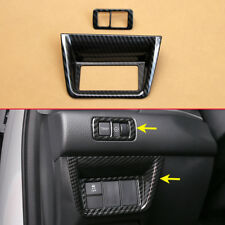 Car Function Button Switch Carbon Fiber Look Finer Covers For 10th Honda Accord