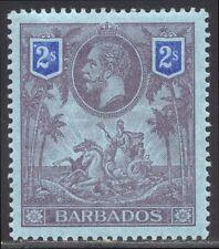 Barbados #125 Mint - 1912 2sh Violet & Blue ($65)