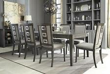 Ashley Chadoni D624 Dining Room Set 10pcs in Gray with Server Contemporary Style